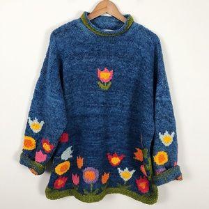 Vintage Amano Handmade Wool Sweater